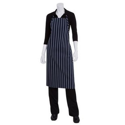 Picture of Navy Chalkstripe Adjustable Chefs Apron