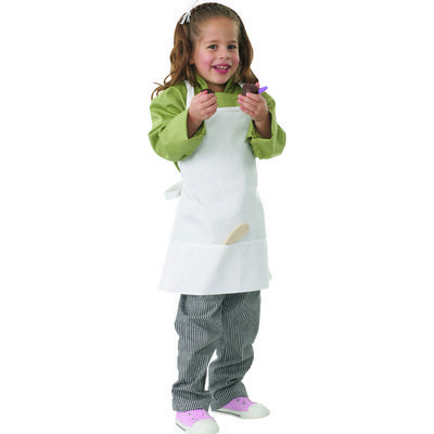 Picture of Kiddies White Bib Apron