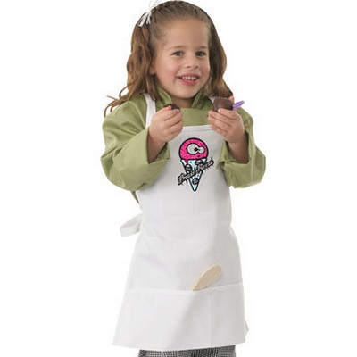 Picture of Kids White Freeze Bib Apron