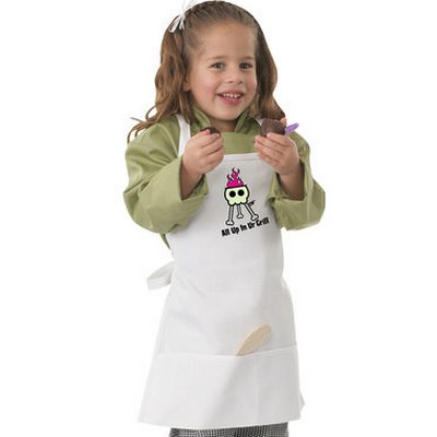 Picture of Kids White Grill Bib Apron