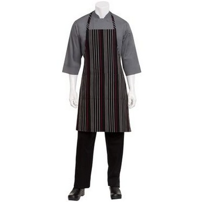 Picture of BlackWhiteRed Striped Bib Apron
