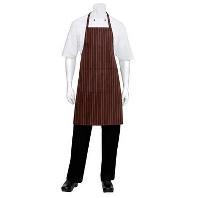 Picture of BrownOrange Striped Bib Apron