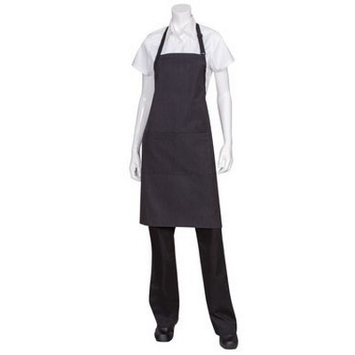 Picture of BlackWhite Fine Stripe Bib Apron
