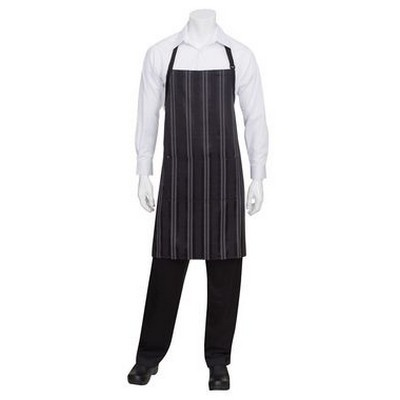 Picture of Presidio Black Grey Bib Apron