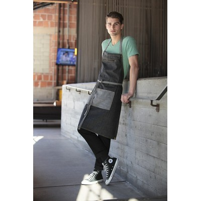 Picture of Manhattan Black Denim Bib Apron
