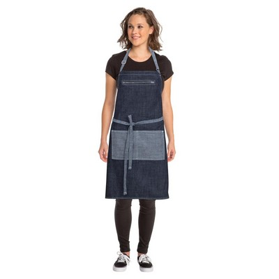 Picture of Manhattan Indigo Blue Denim Bib Apron