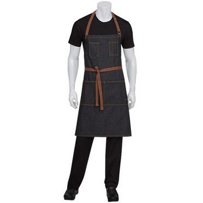 Picture of Memphis Black Bib Apron