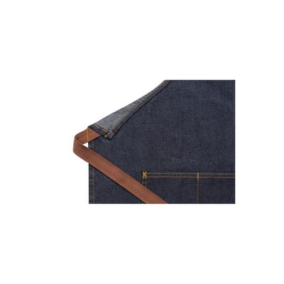 Picture of Memphis Indigo Blue Bib Apron