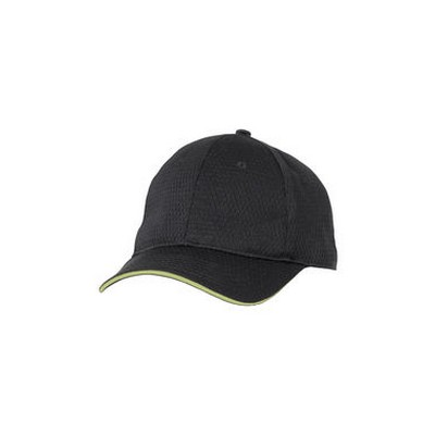 Picture of Lime Trim Cool Vent Black Baseball Cap