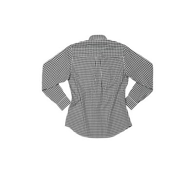 Picture of Gingham Womens Black Dress Shirt