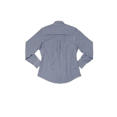 Picture of Gingham Womens Navy Dress Shirt
