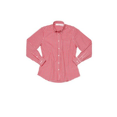 Picture of Gingham Womens Red Dress Shirt