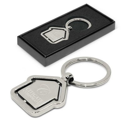 Picture of Spinning House Metal Key Ring