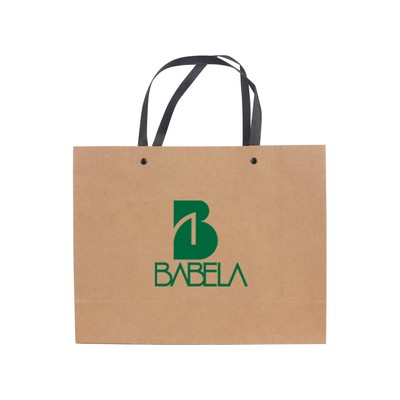 Picture of Medium Crosswise Paper Bag with Knitted