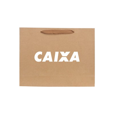 Picture of Large Crosswise Paper Bag with Fabric Fl