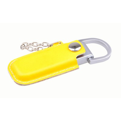 Picture of Leather Pouch Flash Drive