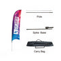 Small(65.3*200cm) Concave Feather BannersBanners