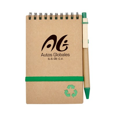 Picture of Recycled Notepad with Ball Pen