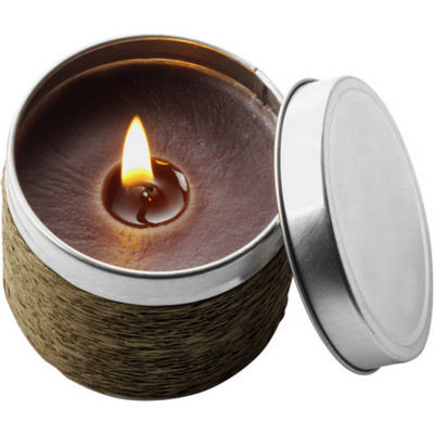 Picture of Tin with scented candle