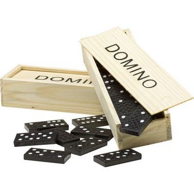 Picture of Wooden box with domino game