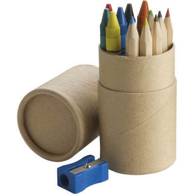 Picture of Cardboard tube with pencils
