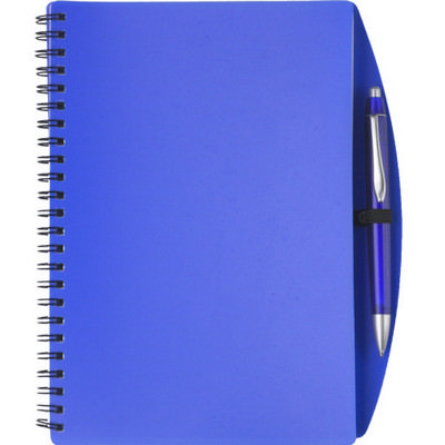 Picture of PP notebook with ballpen