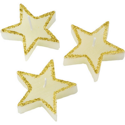 Picture of Three star-shaped candles