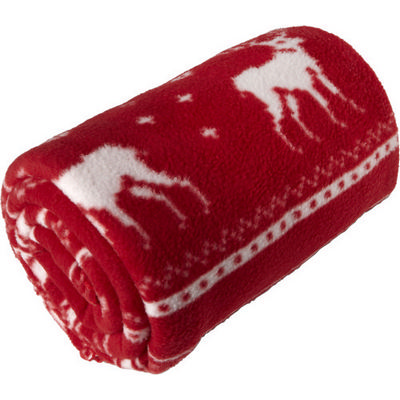 Picture of Polar fleece reindeer blanket (180 grm2)