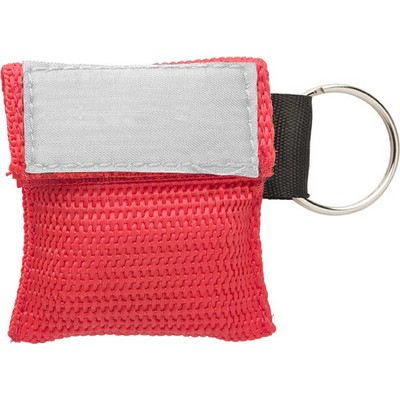 Picture of Polyester pouch with CPR mask
