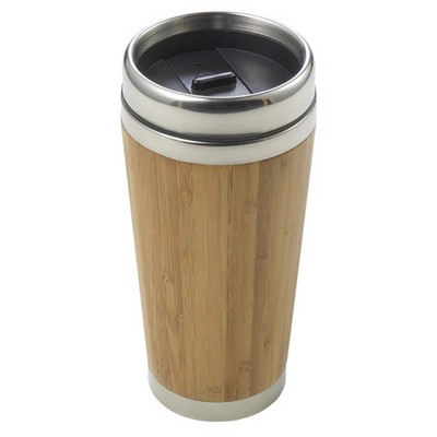Picture of Bamboo and stainless steel travel cup