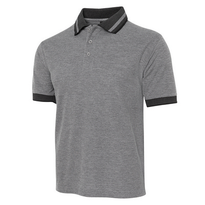 Picture of JB's  BIRDS EYE POLO   CHARCOAL - S