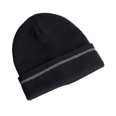 Picture of JB's  REFLECTIVE BEANIE  BLACK - HIGH PR