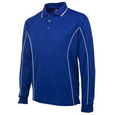 Picture of PODIUM L/S PIPING POLO