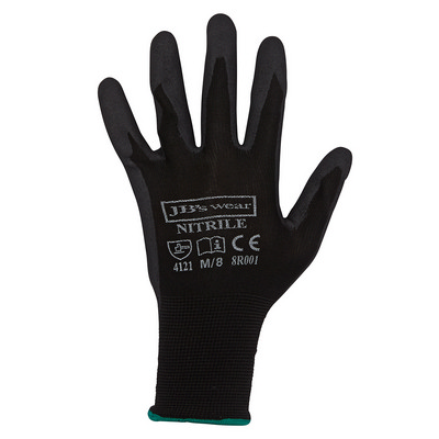 Picture of JB's  BLACK NITRILE BREATHABLE GLOVE (12