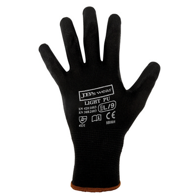 Picture of JB's  BLACK LIGHT PU BREATHABLE GLOVE (1