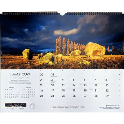 Picture of Large Panoramic Wall Calendar