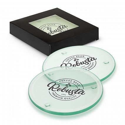 Picture of Venice Glass Coaster Set of 4 - Round