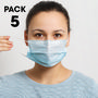 Pack of 5 - Disposable 3 Ply Face Mask