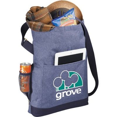 "Picture of Chambray Foldover 11"" Tablet Tote"