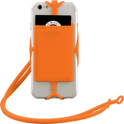 Picture of Silicone RFID Card Holder with Lanyard