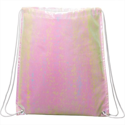 Picture of Iridescent Non-Woven Drawstring Bag