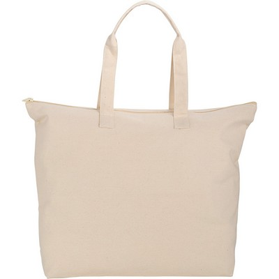 Picture of 10 oz. Basic Cotton Canvas Zippered Tote