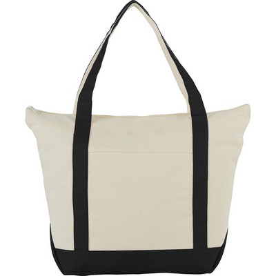 Picture of 12 oz. Zippered Cotton Canvas Tote