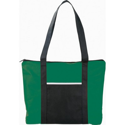 Picture of Timeline Non-Woven Zipper Business Tote
