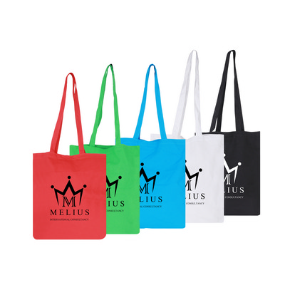Picture of 140gsm Coloured Long Handle Cotton Bag