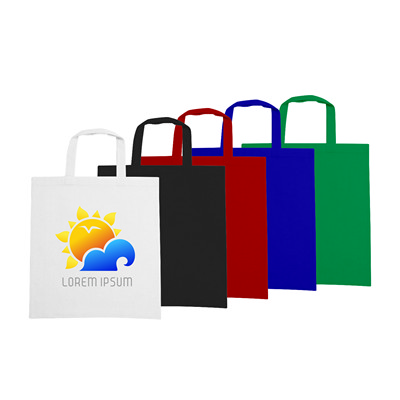Picture of 170gsm Short Handle Cotton Bag