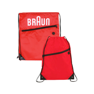 Picture of Polyester Drawstring Bag with Zippered P
