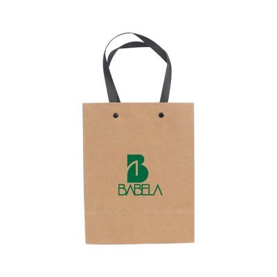 Picture of Small Vertical Paper Bag with Knitted Ha