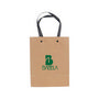 Small Vertical Paper Bag with Knitted Ha