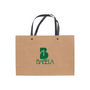 Small Crosswise Paper Bag with Knitted H